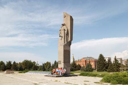 VOLZHSKY, RUSSIA - July 30, 2016: A monument to the soldiers who have died in days of Civil and the Great Patriotic War войня. The avenue of memory to the died children of the military of Stalingrad