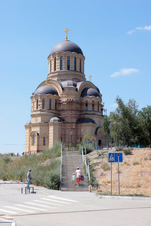 VOLGOGRAD, RUSSIA - July 20, 2015: Saint Johns Church. Krasnooktyabrsky district, Volgograd, Russia Editorial