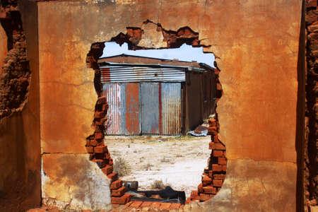 pared rota: Wall roto