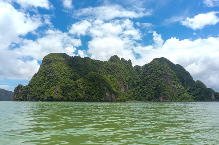 Phang Nga Bay lies between southern Thailand's mainland and Phuket Island. Also known as Ao Phang Nga National Park, it's limestone cliffs and rock formations.
