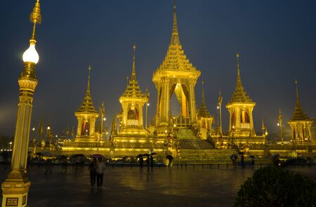 Bangkok, Thailand - 20 Nov 2017 :The Royal Cremation for His Majesty the late King Bhumibol Adulyadej. Combination of grandeur and Thais historic architecture