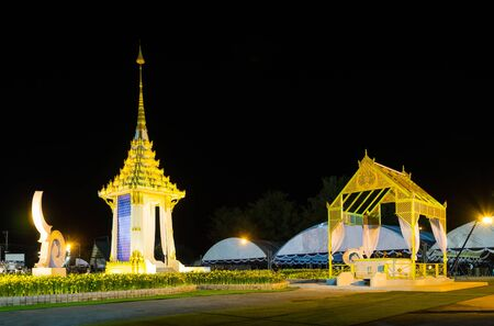 Phuket, Thailand - 25 Oct 2017 :The Royal Cremation for His Majesty the late King Bhumibol Adulyadej. Combination of grandeur and Thais historic architecture