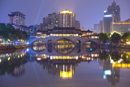 China, Si Chuan - 10 May 2018 :Cheng Du City is an ever-present in the citys storied heritage. Prosperous metropolis combination of grandeur and historic architecture. Its well preserved old town, ancient wonders as well as modern era of aesthetic design