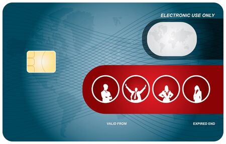 Bank card layout with abstract secure sign Vector