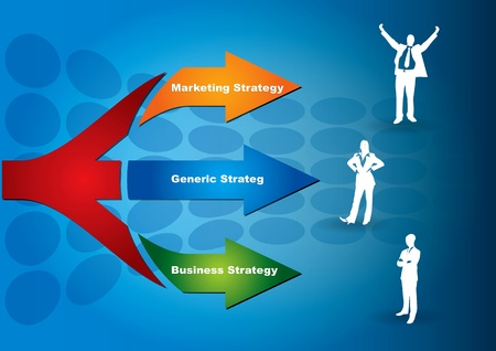 Key of strategy - abstract business illustration Vector