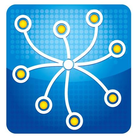 Share-Symbol Illustration mit Text und Grafiken Illustration