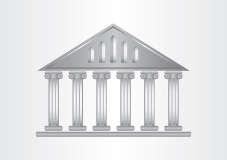 Museum icon,abstract greek architecture with background Vector
