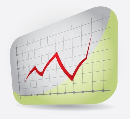 Grafische Darstellung der Gewinn, abstrakte Darstellung auf Hintergrund Illustration
