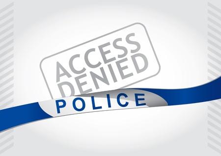 denied: Acceso denegado, la polic�a tira - resumen ilustraci�n