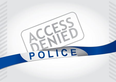 denied: Access denied, police strip - abstract illustration