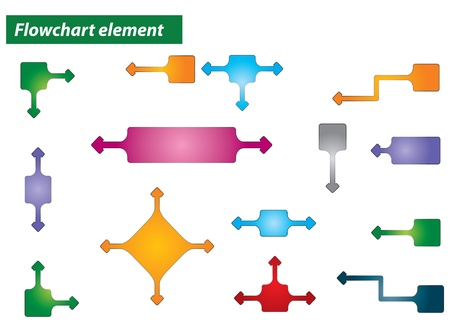Flowchart element - abstract illustration with background Vector