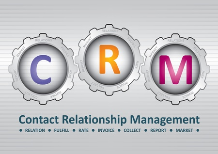 Contact Relationship Management software structure diagram Illustration