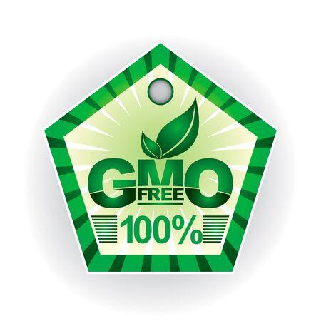 Non modifie génétiquement les plantes - présentation de l'étiquette verte Illustration