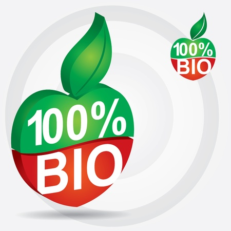 Non genetically modifies plants - bio product sign Vector