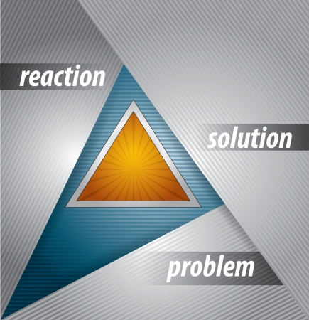 Problem solution chart - abstract illustration with text Illustration
