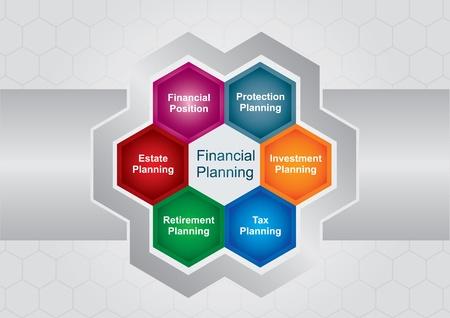 busines: Financial planing illustration, busines concept