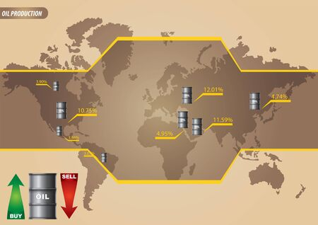 combustible: Infographic - major oil-producing countries Illustration
