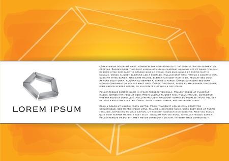 Handgemalte orange Hintergrund mit transparenter Tinte Wirkung Illustration