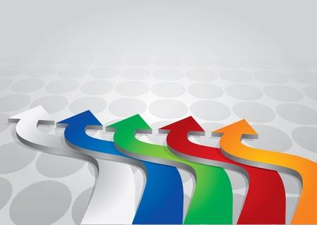 Modèle d'affaires avec des flèches de couleurs et dot Illustration