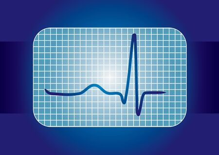 Medical background with ECG curve Vector