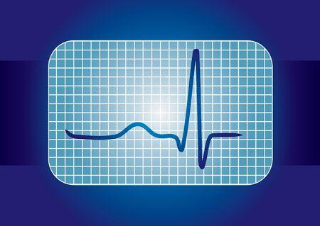 lifeline: Medical background with ECG curve