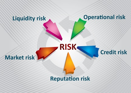 faillite: Le risque financier, illustration concept abstrait