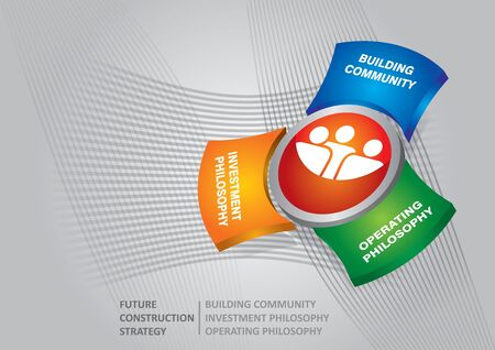 funds: Funds for future construction strategy - abstract illustration