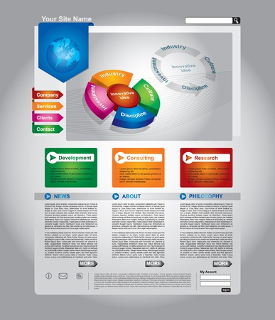 Clean editable business web page template Vector