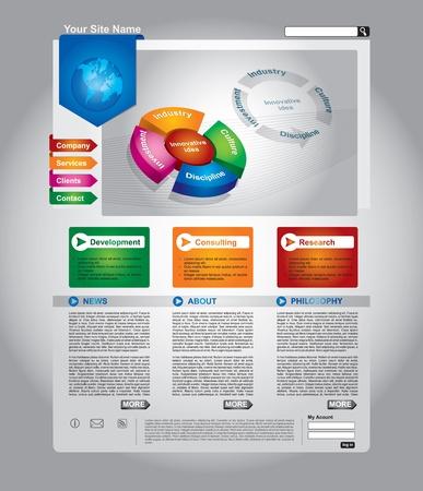 Nettoyez modifiable modèle de page Web d'affaires