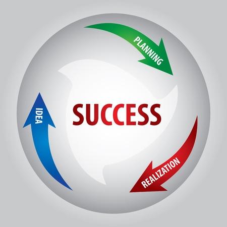 성공의 키에 대한 추상 컬러 그래픽,