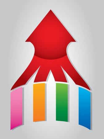 Arrow with colorful wings Stock Vector - 12375944