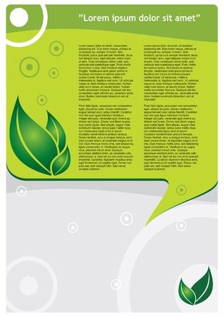 Modèle de l'écologie - la conception moderne avec des feuilles lyaout