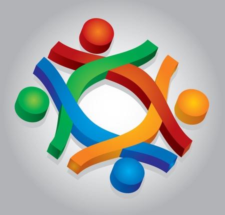 Gemeinschaftsrechtlicher Begriff, abstrakt menschliche Zeichen Illustration