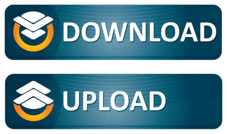 Download and upload banners with abstract pictogram Stock Vector - 12498308