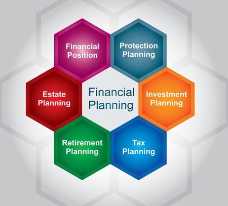 Financial planing illustration, busines concept Vector