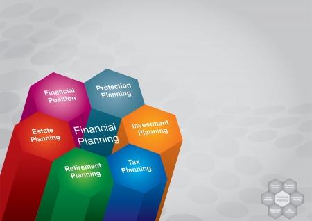 재무 기획 그림, 및 비즈니스 개념
