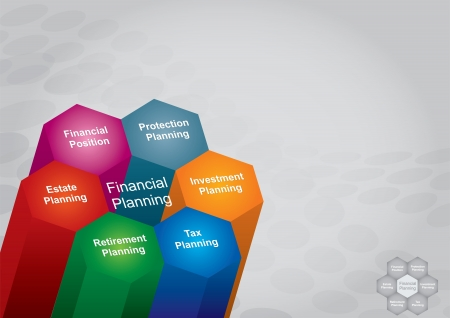 recursos financieros: Ilustraci�n de planificaci�n financiera, el concepto de busines