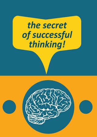 gratulation: The secret of successful thinking Illustration