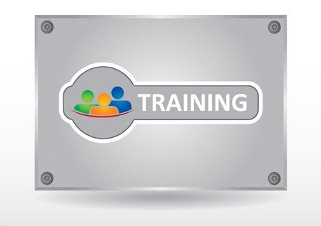 training: Communicatie concept, paneel met het pictogram en tekst
