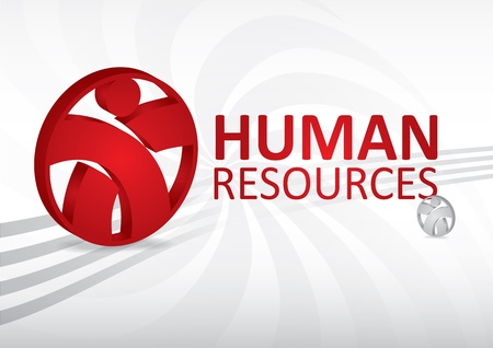 job recruitment: Human resource concept - abstract template with sign Illustration