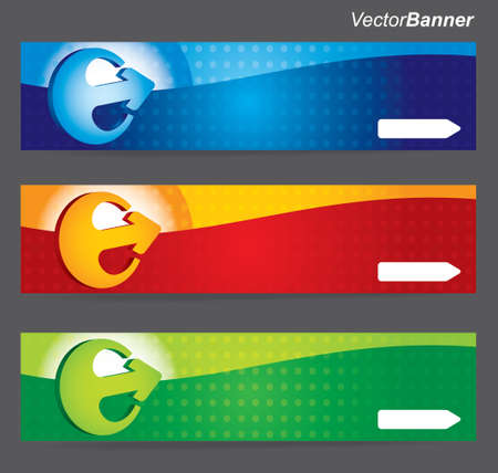 Website header or banner design set with arrow Stock Vector - 13011769