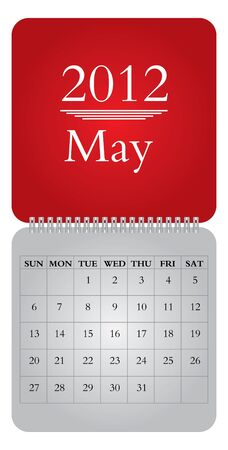 monthly calendar: Classical monthly calendar for 2012, May Illustration