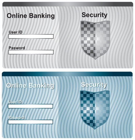 Secure screen for online banking Vector