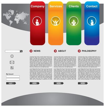 business: Pulire modificabile web modello di business page Vettoriali