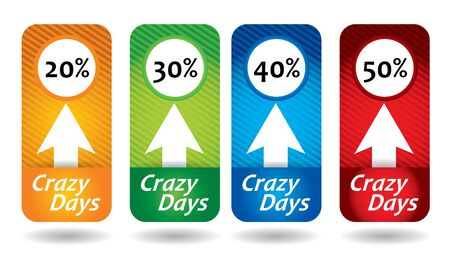copy paste: Editable Crazy Days label template set, with star and copy paste area