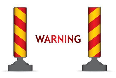 road warning sign: Se�al de advertencia en carretera, resumen ilustraci�n sobre fondo blanco