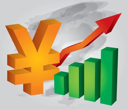yuan: Yuan exchange rate increases  Illustration