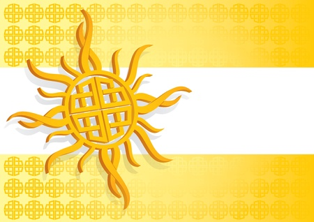 Template layout with celtic sun and decoration Stock Vector - 13077361