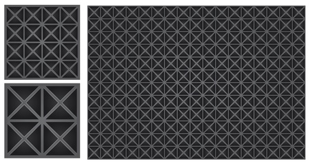 Industrial background, grid illustration with triangle hole Vector