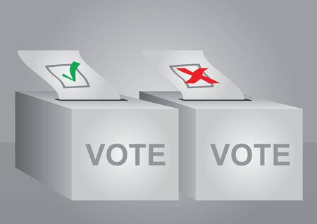 voting concept - vector  illustration with box and check-mark Vector